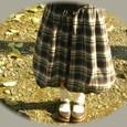 22 チェックのバルーンスカート