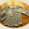18 ①ダブルガーゼのヘンリーネックシャツ