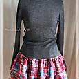 赤パッチの二段ギャザースカート