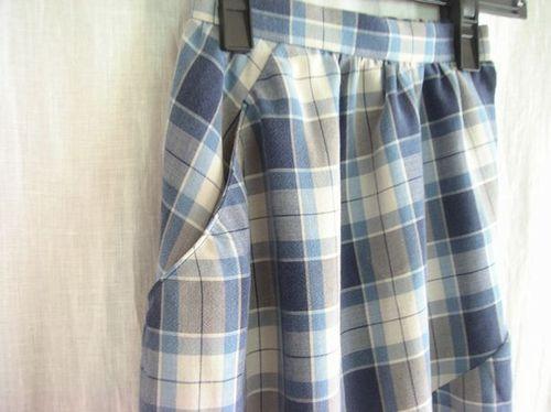 13 ②斜めの切り替えスカート ポケット
