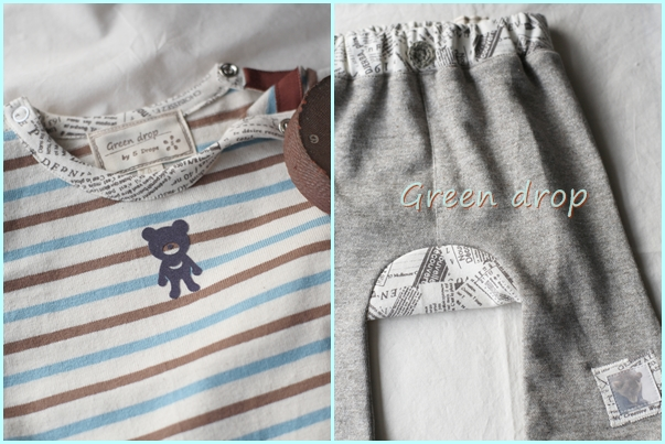 ベビーTシャツとモンキーパンツ