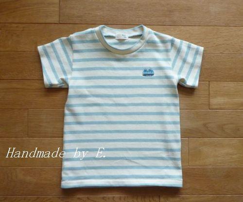 28 ①キッズシンプルTシャツ ボーダー