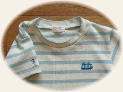 28 ②キッズシンプルTシャツ ボーダー