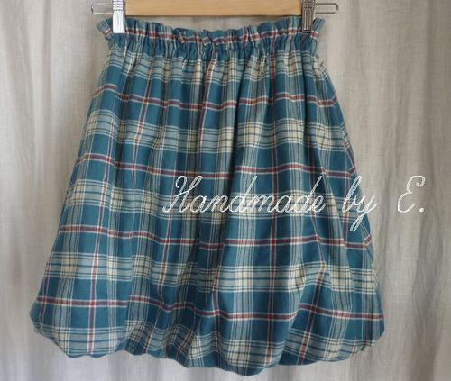 33 チェックのバルーンスカート