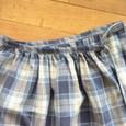 13 チェックのギャザースカート