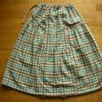 19 チェックの変形ギャザースカート