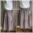 変形ギャザースカート
