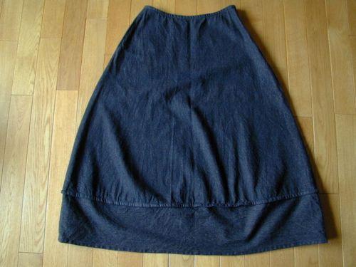 12 デニムの切り替えスカート