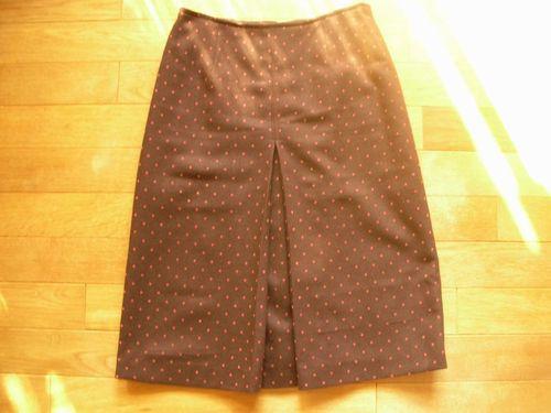 14 水玉ボックスプリーツスカート