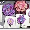 編み編み花ピン