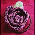 編みバラのヘアゴム