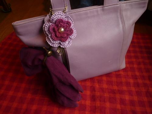 グローブホルダー 紫